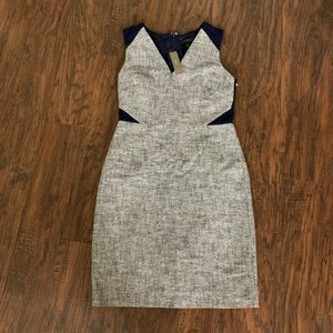 Jcrew Grey & Blue Dress